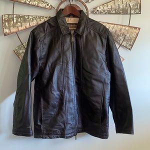 Columbia   Sportswear Brown Leather Jacket